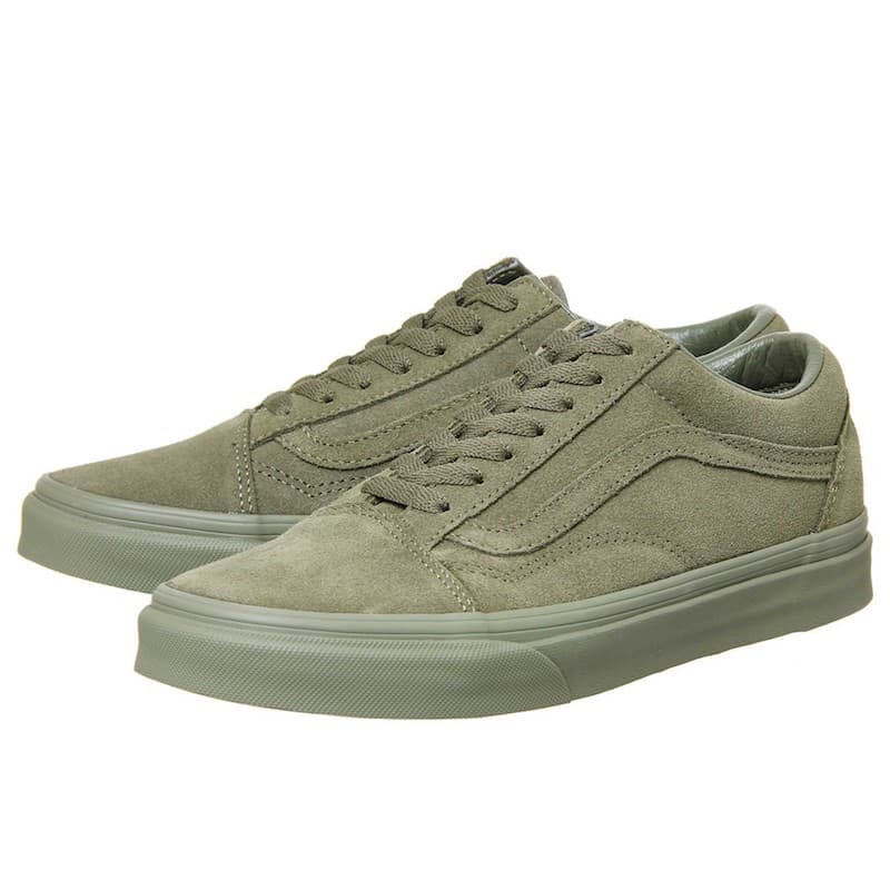 vans old skool trainers burnt olive suede exclusive