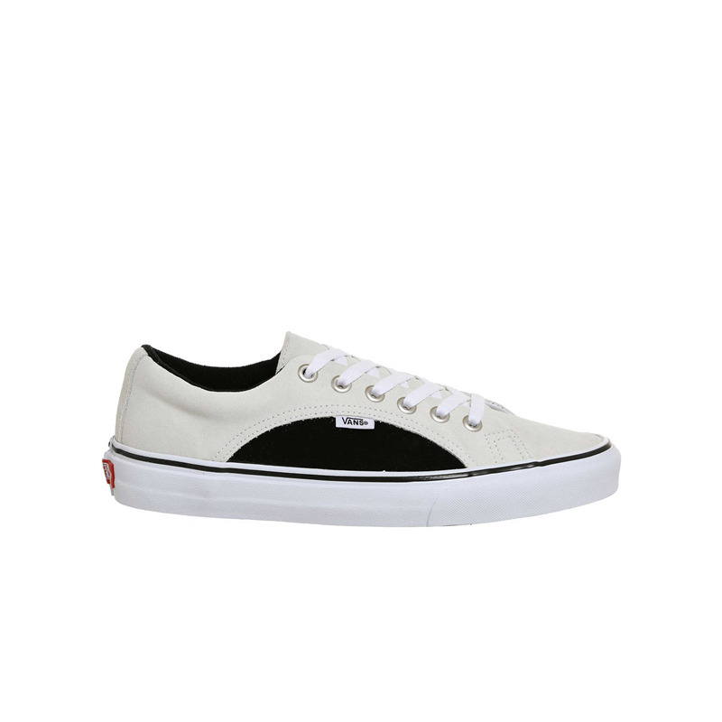 vans lampin true white black white sole