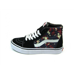 КЕДЫ VANS SK8-Hi digital camo navy red white sole