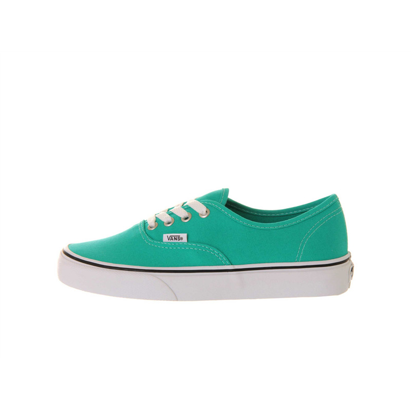 vans authentic aqua green white sole